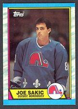 1989 90 TOPPS HOCKEY 113 JOE SAKIC NM-MINT ROOKIE QUEBEC NORDIQUES AVALANCHE