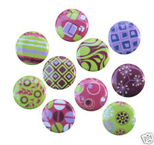 "10 MODERN CHIC Buttons Pins Badges 1"" Purple Pink Green"