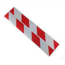 2pcs 40cm Red Silvery Car Truck Reflector Sticker Collision Avoidance Warning