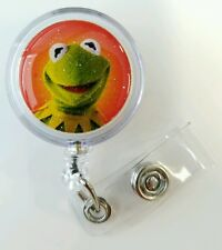 Disney, The Muppets, KERMIT THE FROG, Retractable Badge Name Tag ID Holder
