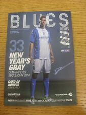 01/01/2014 Birmingham City v Barnsley  .  Thanks for taking the time to view thi