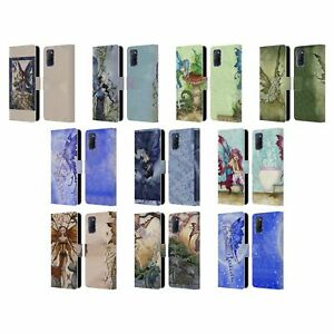 OFFICIAL AMY BROWN PIXIES LEATHER BOOK WALLET CASE COVER FOR OPPO PHONES