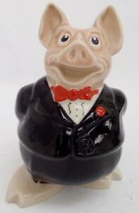 Natwest Wade Porcelain Piggy Bank With Stopper Nathanial Collectible #114