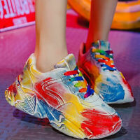 WOMENS LADIES CHUNKY SNEAKERS COLORFUL WOMEN CASUAL PARTY RUNNING SHOES FASHION