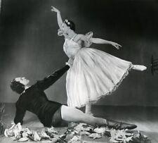 France Bolshoi Giselle Dance Galina Oulanova Old Photo Bernand 1958
