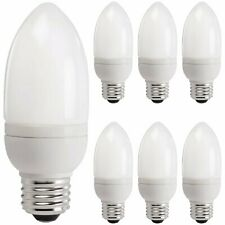 Philips CFL Candle Light Bulb Frosted Soft White E26 Base 400 Lumens 6 Pack