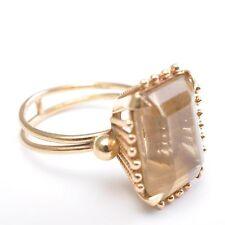Anello oro con grande Citrino, circa 8,7ct, Cavo de cor, 750x GG, RG 55