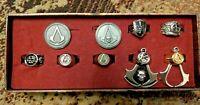 Assassin's Creed Replica Metal Jewellery Ring etc. Set - Never Worn