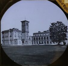 Osborne House from the West, Isle of Wight, England, Magic Lantern Glass Slide