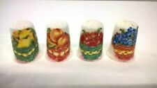 Collection Bone China Thimbles - Bronte China - Various Fruits in Baskets x 4.