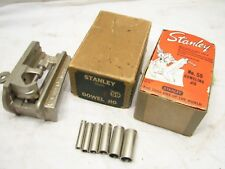 Stanley No. 59 Vintage Dowel Jig w/Box & Guides Cutting Woodworking Wood Tool