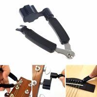 Gitarren 3 in1 Reparatur Werkzeug Saitenkurbel String Schneider Repair Tool