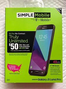 "NEW SIMPLE Mobile Samsung Galaxy J3 Luna Pro 5"" 4G LTE 16GB Smartphone"