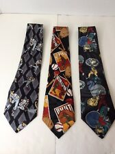 Mens Baseball Novelty Classic Tie Neckties Lot American Major League Sports