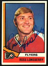 Ross Lonsberry Autographed Signed 1974-75 Topps Card #144 Flyers 150086