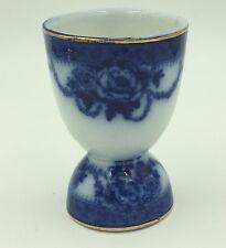 """FLOW BLUE 3 1/2"""" ROXBURY EGG CUP BY RIDGWAYS ENGLAND"""