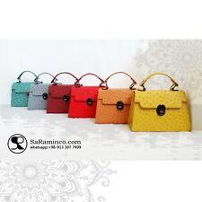 woman ostrich leather handbag ,100% genuine ostrich leather skin
