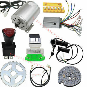 48V 1800W Electric Brushless DC Motor 4500RPM kits For Gokart Quad Scooter Bike