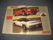 1974 Pontiac SD-455 Trans-Am & 1970 GTO Judge Convertible Vintage Article