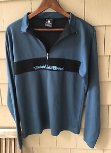 VTG Burton Snowboards Base Layer Long Sleeve Sweater Shirt Mens Sz S Made In USA