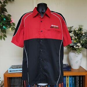 NWT Snap On Racing Mechanic Button Up  Red Men's Shirt Sz XL