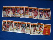 1990-91 OPC O-PEE-CHEE RED ARMY HOCKEY CARDS 22 CARD SET SEE DESCRIPTION DAMAGES