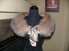 Gorgeous Crystal Fox Fur Stole Wrap Cape Coat Jacket