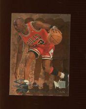 MICHAEL JORDAN 1995/96 FLEER METAL #3 SLICK SILVER CHICAGO BULLS INSERT