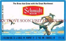 Scarce Original 1970s Schmidt Scenic MALLARDS beer label Tavern Trove