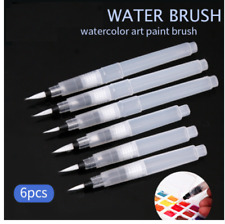 Watercolour Paintbrush 6 Piece Art Pen Water Storage Artists Nylon Hair Bristle