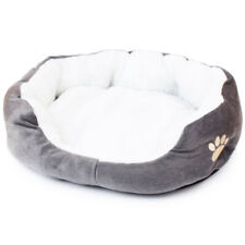 Pet Bed Gray S Size Dog Cat Soft Cushion with Fleece Lining Warm Pet Basket Bed