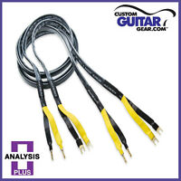 Analysis Plus Black Mesh Oval 9 Speaker Cables, 6ft Length - PAIR