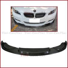 For 06-09 BMW E92 E93 2DR HM Type Carbon Fiber Front Lip w/ M-Tech Sporty Bumper