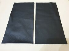 """Black 100% leather 2 pieces 9"""" x 4.5""""  Quality offcuts 1.1mm Craft Patch Repair"""