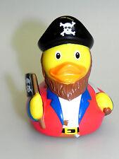 Badeente Pirat LLL * Gummiente Seeräuber * Quietscheente Totenkopf *
