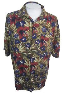 Montage vintage Men Hawaiian camp shirt pit to pit 26 XL aloha floral tropical