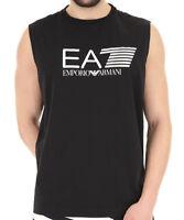 T-shirt Uomo Empori Armani EA7 3ZPT80 PJ02Z Smanicata Maglia Nera Bianca Nuova
