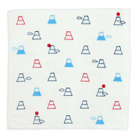 HAMAMONYO Japanese Towel 'Mt.Fuji and Cloud' (25cm×25cm Soft Touch Hand Towel)