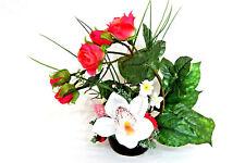 Tischdekoration Kunstblumen Tischdeko Deko Kommunion Taufe Verlobung Rosen RS1
