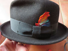 Vintage Men s 7 Dynafelt Water Repellent Fur Blend Fedora Hat Brandford  Hatter 073c1e186c45