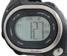 Nike Triax Fury 100 WR0139 001 Mens Black Gray Digital Chronograph Sport Watch