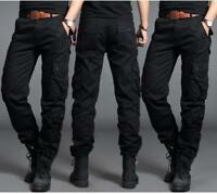 Mens Army Cargo Overall Military Combat Tactical Casual Outdoor Pants Trousers