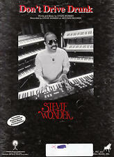 Don't Drive Drunk - Stevie Wonder - 1984 Sheet Music (USA Music)