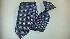 "Youth Tie Checkered Metallic Handsome Polyester 17"" Length"