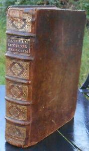 [MEDECINE] CASTELLI Lexicon Medicum Graeco-Latinum. Genève, 1746. In-4 veau brun