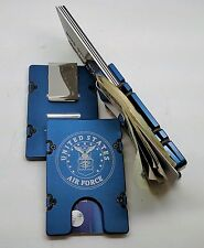 U.S. Air Force, Aluminum Wallet/Credit Card Holder, RFID Protection, Blue