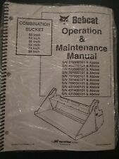 Bobcat Skid Steer Combination Bucket Operation & Maintenance Manual 6570493 2002