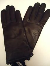 Ladies Thinsulate Genuine Leather Gloves,Brown, Small