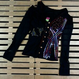 Womens Shirt Cardigan Save The Queen Size M