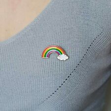 Enamel Colourful Rainbow Brooch Pin Love Support hope